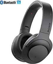 Sony MDR100 h.Ear on Wireless NC On-Ear Bluetooth Headphones w/ NFC - Charcoal Black - (Renewed)