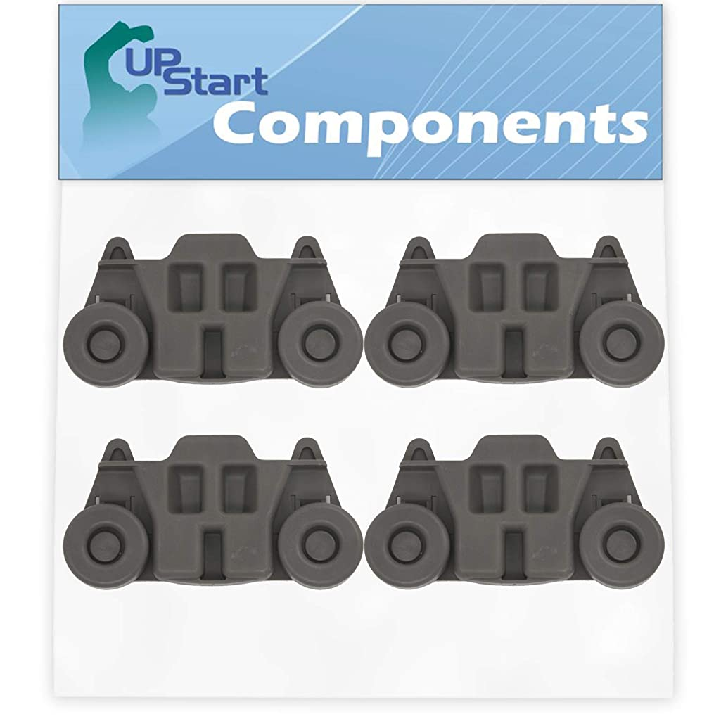 4-Pack W10195416 Lower Dishwasher Wheel Replacement for KitchenAid KUDE60SXSS0 Dishwasher - Compatible with W10195416V Dishwasher Wheel - UpStart Components Brand