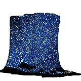 Mantas para Cielo Estrellado Azul Mantas para Sofá Tacto Suave y cálido, Alivio del estrés, Que Tiene una flexibilidad Extremadamente Alta. 150 * 200cm