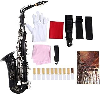 Sax, RiToEasysports SLADE Mediant Saxophone E Flat Alto Saxophone with Accessories Black
