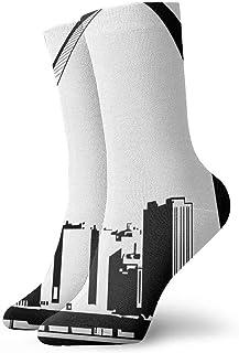tyui7, St-Louis-Skyline-Clipart-1 Calcetines de compresión antideslizantes Cosy Athletic 30cm Crew Calcetines para hombres, mujeres, niños