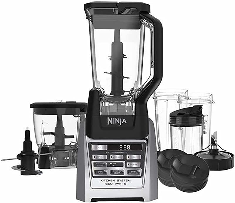 Ninja Auto IQ Total Boost Kitchen Nutri Blender System With 1500 Watts Professional Base BL687CO Renewed
