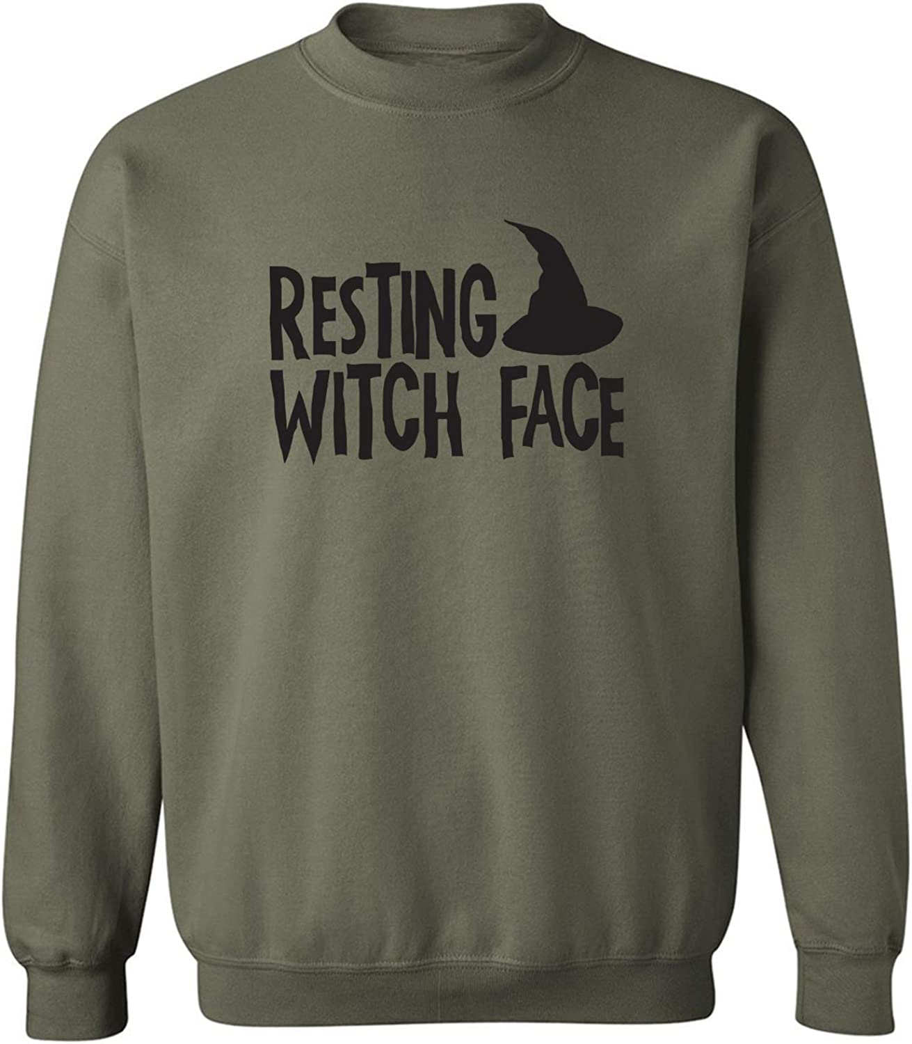 RESTING WITCH FACE (with hat) Crewneck Sweatshirt