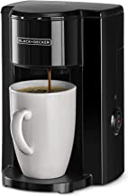 Black+Decker 350W 1 Cup Coffee Maker/ Coffee Machine with Coffee Mug for Drip Coffee & Espresso, Black - DCM25N-B5