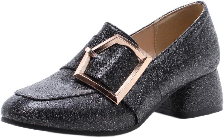 FANIMILA Women Fashion Chunky Heel Pumps