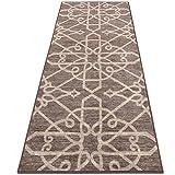 casa pura Alfombra Diseño Marroquí - Alfombras Largas de Diseño   NAVELLI   Alfombra Árabe Antideslizante   100% Poliamida   16 Tamaños, (Marrón, 80x100cm)