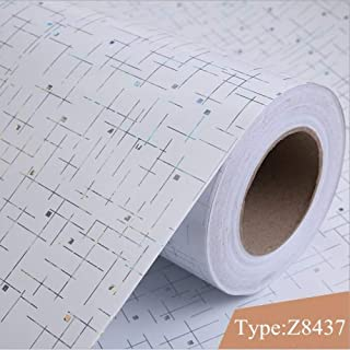 LZYMLG Self Adhesive Wallpapers Rolls Furniture Waterproof PVC Wall Papers for Living Room Modern Vinyl Kitchen Wall Papers Home Decor Z8437 60cm X 3m