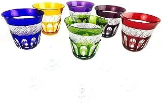 Copas de vino de cristal hechas a mano, Klein Baccarat France, 6 copas (18 cl), copas Roemer, firma Cristal Klein 54120 Ba...