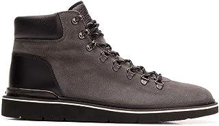 Luxury Fashion | Hogan Men HXM3920Z490JID6EEN Grey Leather Ankle Boots | Season Permanent
