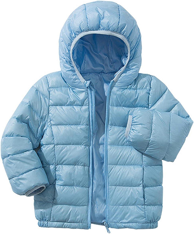 Girls Boys Lightweight Hooded Down Jacket Kids Autumn Winter War