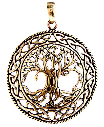 Kiss of Leather Großer Lebensbaum Yggdrasil Anhänger aus Bronze Nr. 50 A