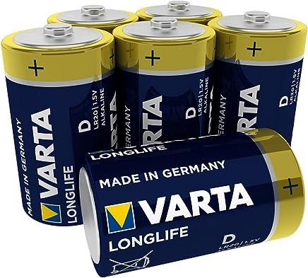 Varta Longlife Batterie D Mono Alkaline Batterien LR20 - 6er Pack
