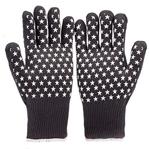 hochwertige Premium Back-Handschuhe Grill-Handschuhe Kamin-Handschuhe Ofen-Handschuhe Hitzeschutz-Handschuhe BBQ Barbecue Gloves 2 Stck. hitzebeständig bis 350°C kurz bis 500°C CE Zeichen EN 407