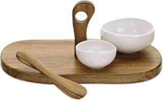 Portmeirion Ambiance 4 Piece Serving Set, Pearl White