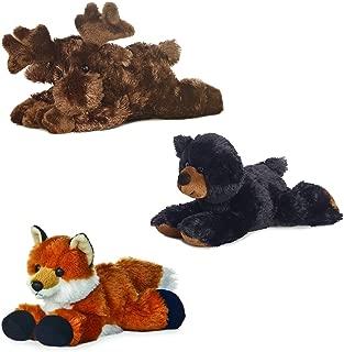 Aurora Maxa Moose Sullivan Black Bear Foxie Fox Mini Flopsie 8