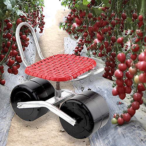 KMDB Carrito De Selección Móvil De Invernadero Agrícola, Asiento De Carro, Asiento De Jardín, Asiento Giratorio Ajustable De 360 Grados