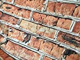LushFabric Brick Wand-Effekt-Baumwollstoff – rote