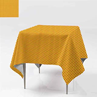 carmaxshome Dining Table Cover, Pop Art Polka Dot s Fabric Decorative Table Top Cover 100% Waterproof Spillproof Stain Resistant Table Cloth for Outdoor Picnic Kitchen Dining, 60 x 60 Inch