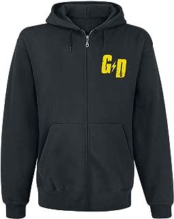 Mens Official Checker Hoodie, (Black)