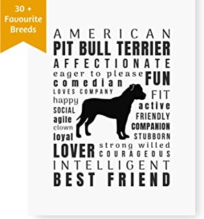 Dog Décor American Pit Bull Terrier Print - Wall Art Quotes for Home (8.5x11 Unframed) | Pet Memorial Gifts | Dog Mom Gifts | New Puppy | Pitbull Terrier Keepsake Gifts for Dog Lovers