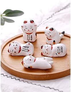 招き猫 箸置きしあわせ猫 Fukuka 箸置き かわいい 食器 磁器 5個セット卓上小物 置物 インテリア 飾り物