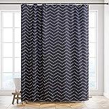 Furlinic XL Duschvorhang Badvorhang Badewannenvorhang in Badezimmer aus Stoff Textil Anti-Schimmel Wasserabreisend Waschbar, berlnge 200x240cm Chevron mit 12 Haken.