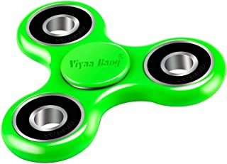 viyaabang Tri Spinner, Hand Spinner,Tri-Spinner Toys for Adult and Kids, ADHD,and Anxiety.(Green)