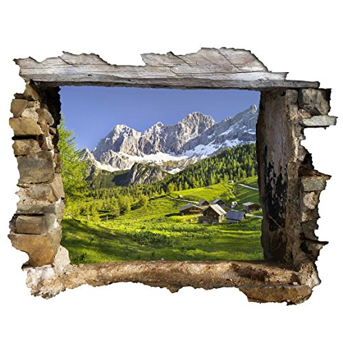 Bilderwelten 3D Wandtattoo - Steiermark Almwiese - Quer 3:4, Sticker 3D Wandtattoos Wandsticker Wandbild, Größe HxB:75cm x 100cm