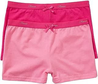 Hanes Girls Underwear Cotton Elastane Sports Shortie (2 Pack)