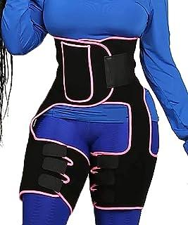 Manladi 2-in-1 High Waist Slim Thigh Shapers Trimmer and Butt Lifter Waist Trimmer Belt,Workout,Fitness,Sport