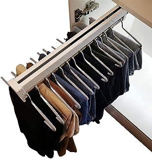 yxx Porte-Pantalons Tige de Rangement Extensible Commercial for Pantalons de vêtements, Tirez sur Les vêtements Rail d'arm...