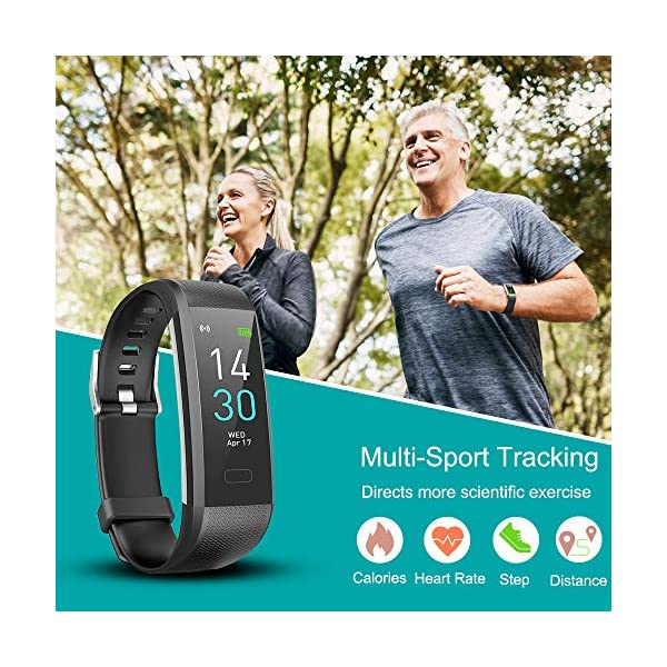 Pulsera de Actividad, Inteligente Reloj Deportivo, IP68 para Hombre Mujer con GPS Monitor de Sueño Podómetro Contador… 5