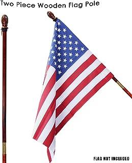 Toland Home Garden Wooden Flag Pole with Mahogany Finish 59