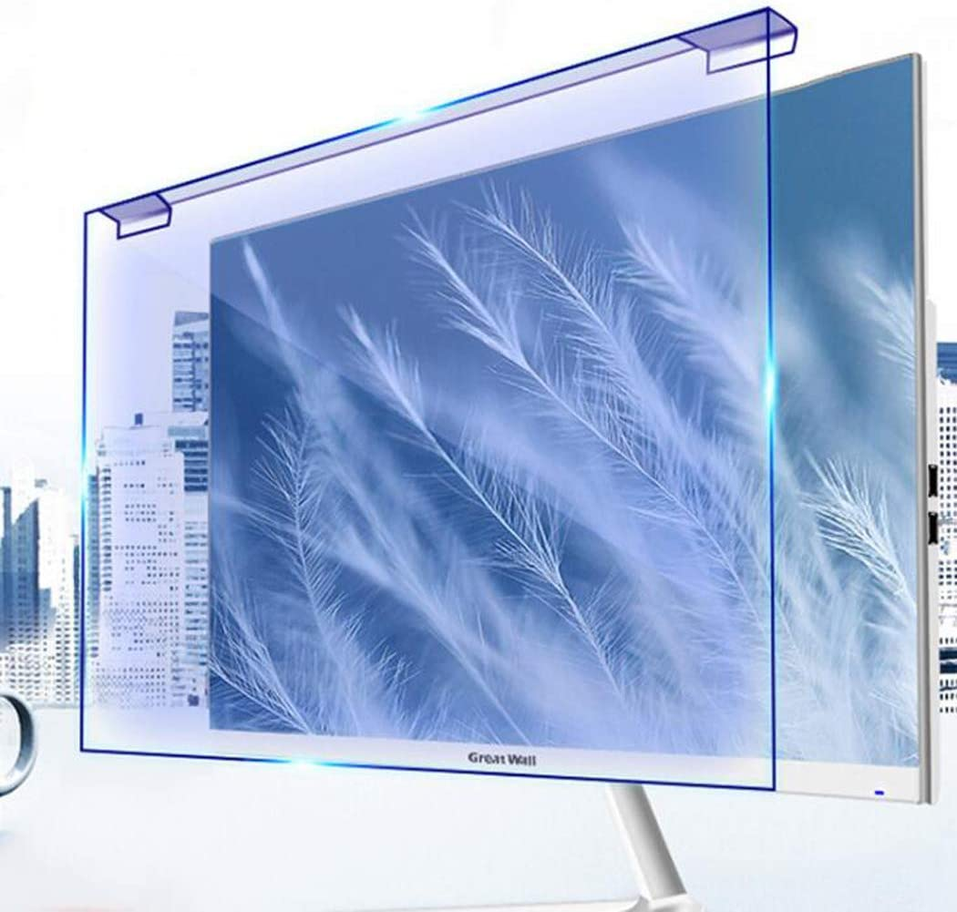 Película protectora de computadora de escritorio Protector de pantalla anti luz azul Instalación sin complicaciones Filtro de pantalla antideslumbrante para monitor de computadora,23