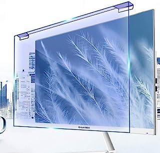 デスクトップコンピュータの画面保護フィルム ハンギングアンチブルーライトスクリーンプロテクター 大騒ぎフリーインストール コンピュータ、TVモニタ画面のための青色遮断アンチグレアスクリーンフィルター