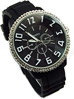 Henley Glamour Black Dial Chrono Effect Sports Watch