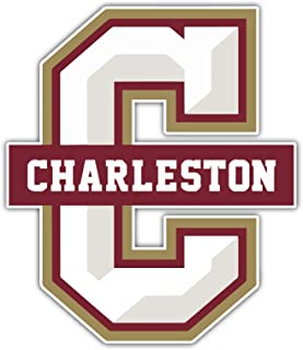 College of Charleston Cougars NCAA Vinyl Great Quality Sticker Vinyl Decal for Car Bumper Laptop Window Locker, 4 x 5 in