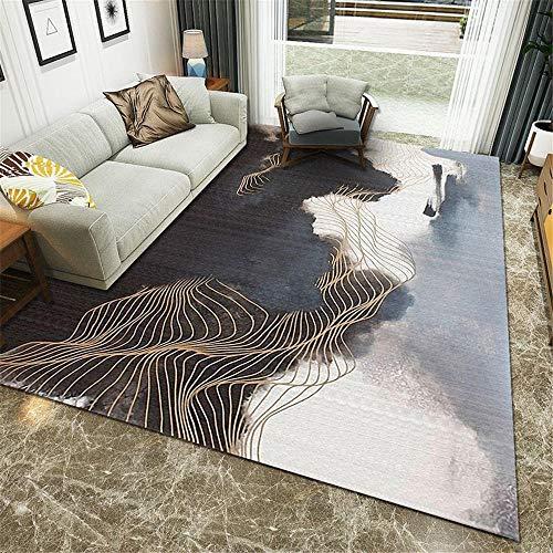 Kunsen Decorar habitacion alfombras alargadas Alfombra de Sala de Estar Gris Moderna Antideslizante, anticaída, sin Color y sin deformación decoración habitación Bebe 80X120CM 2ft 7.5' X3ft 11.2'