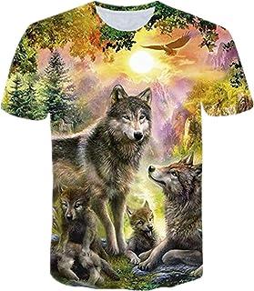 ZIMCA Men Fashion 3D Wolf Printed T-Shirt