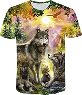 ZIMCA Men Fashion 3D Wolf Printed T-Shirt