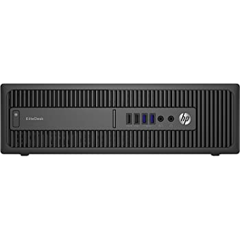 HP EliteDesk800 G1 SFF - Ordenador de sobremesa (Intel Core I5-4570 3.2 GHz, 8GB de RAM, Disco SSD 240GB, Lector DVD, Windows 10 Pro) Negro (Reacondicionado)