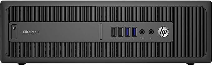 TALLA 8GB | 240GB SSD. HP EliteDesk800 G1 SFF - Ordenador de sobremesa (Intel Core I5-4570 3.2 GHz, 8GB de RAM, Disco SSD 240GB, Lector DVD, Windows 10 Pro) Negro (Reacondicionado)