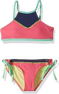 6508481116 Hobie Big Girls' Hi-Neck Bikini Top and Side Tie Hipster Bottom Swimsuit Set