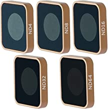 QKOO ND Filter Kit for GoPro Hero 7 Black/Hero (2018)/Hero 6 Black/Hero 5 Black - ND4, ND8, ND16, ND32, ND64 Lens Filter (5-Pack) - Neutral Density Lens Filters Set Camera Lens Accessories