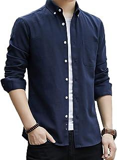 [ジェームズ・スクエア] ボタンダウン シャツ 長袖 カジュアルシャツ 5色展開 L~5XL メンズ