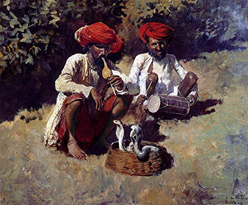 $50-$2000 Hand Painted by College Teachers - 3 Famous Paintings - The Snake Charmers Indian Edwin Lord Weeks - Handmade Art Oil Painting on Canvas -07