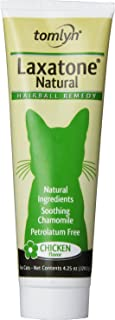 Tomlyn Natural Hairball Remedy Gel for Cats, Laxatone Natural, Chicken Flavor 4.25-Ounce (2 Pack)