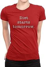 MOUNTS Diet Starts Tomorrow Ladies T-Shirt Red