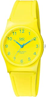 Q&Q Women's Yellow Dial Resin Band Watch - Vp34J063Y, Analog Display