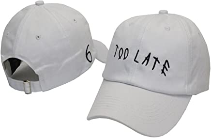7cdf52f5d297c TOODOO too late 6 Panel Dad Hat Baseball Hat White embroider Cap